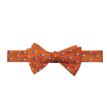 TX Traditional Orange Bow